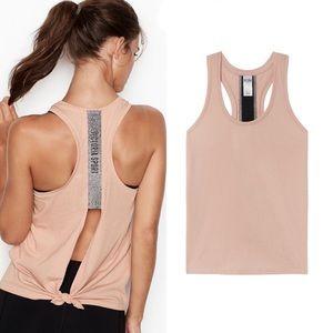 Victoria's secret sport bling tie back Tank pink